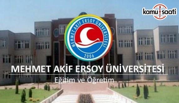Mehmet Akif Ersoy Üniversitesi Ön Lisans ve Lisans Eğitim-Öğretim ve Sınav Yönetmeliğinde Değişiklik Yapıldı - 20 Mayıs 2018 Pazar