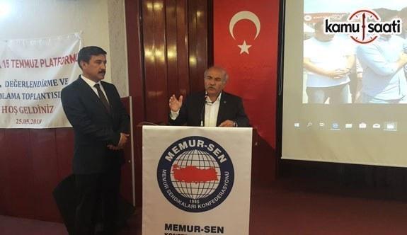 """Memur-Sen Ankara İl Başkanı Mustafa Kır, """"Bu Millet Yenilmezlik Ünvanını Topla, Tankla Değil İmanlı Yüreklerle Korumuştur"""""""