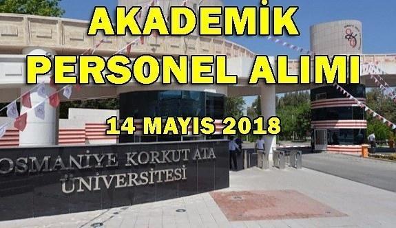 Osmaniye Korkut Ata Üniversitesi Akademik Personel Alacak - 14 Mayıs 2018