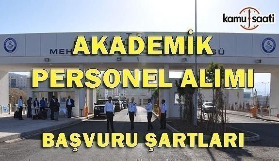 Şırnak Üniversitesi Akademik Personel Alımı - Başvuru Şartları