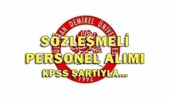 Süleyman Demirel Üniversitesi 93 Sözleşmeli Personel Alım İlanı 2018