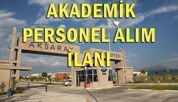 Aksaray Üniversitesi 12 Akademik Personel Alım İlanı - 25 Haziran 2018
