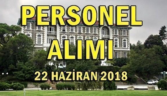 Boğaziçi Üniversitesi 22 Akademik Personel Alım İlanı - 22 Haziran 2018
