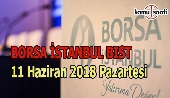 Borsa haftaya yatay başladı - Borsa İstanbul BİST 11 Haziran 2018 Pazartesi