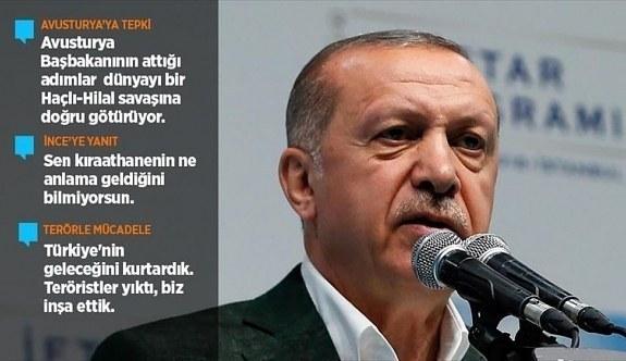 Cumhurbaşkanı Erdoğan'dan Avusturya'ya tepki! Ondan korkuyorum...