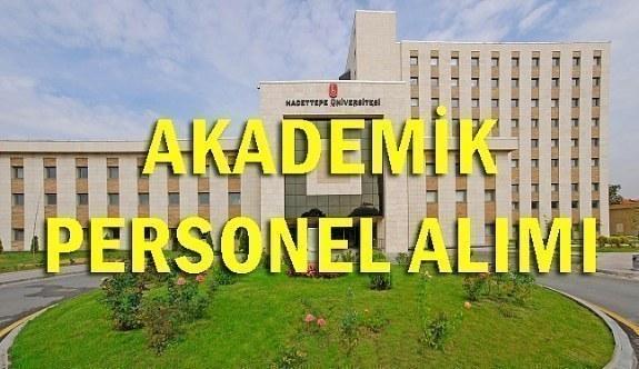 Hacettepe Üniversitesi 40 Akademik Personel Alım İlanı - 18 Haziran 2018