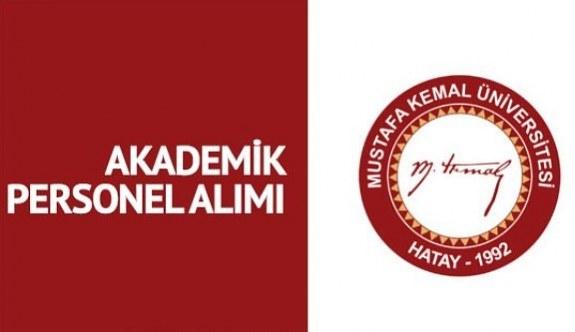 Hatay Mustafa Kemal Üniversitesi 27 Akademik Personel Alımı - 12 Haziran 2018