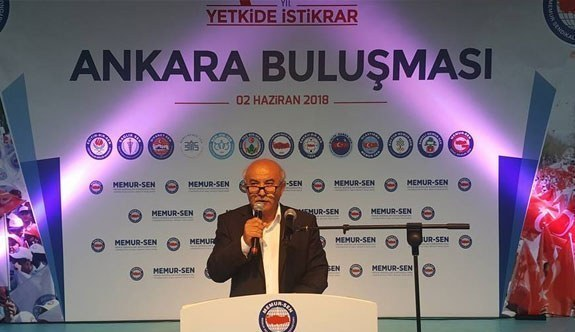 """Memur-Sen Ankara İl Başkanı Mustafa Kır, """"3600 ek göstergenin adı konulmuştur, verilerek soyadı da konulmalıdır"""""""