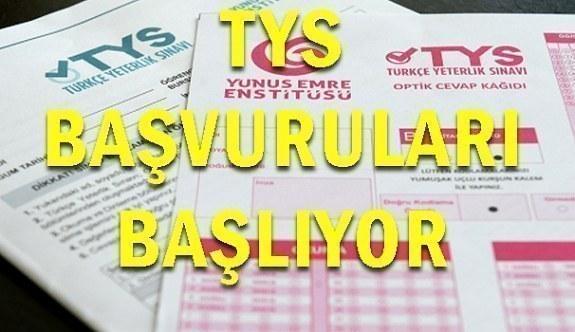Türkçe Yeterlik Sınavı (TYS) başvuruları başlıyor