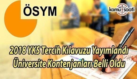 2018 YKS Tercih Kılavuzu Yayımlandı Üniversite Kontenjanları Belli Oldu