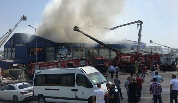 İstanbul Hadımköy'de yangın! Fabrika...