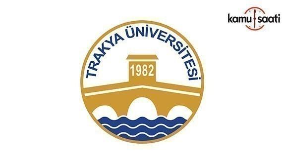 Trakya Üniversitesi Meslek Yüksekokulları Eğitim, Öğretim ve Sınav Yönetmeliğinde Değişiklik Yapıldı- 12 Temmuz 2018 Perşembe