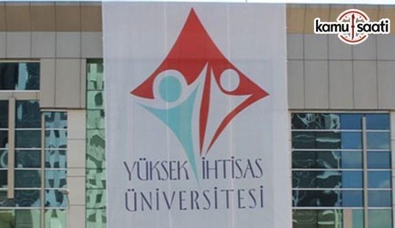 Yüksek İhtisas Üniversitesi Sivil Toplum Çalışmaları Uygulama ve Araştırma Merkezi Yönetmeliği - 26 Temmuz 2018 Perşembe