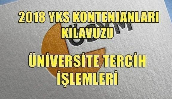 2018 YKS Yükseköğretim Programları ve Kontenjanları Kılavuzu yayımlandı! Üniversite tercih işlemleri
