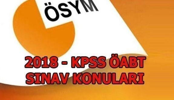 2018 KPSS ÖABT Konu Soru Dağılımları
