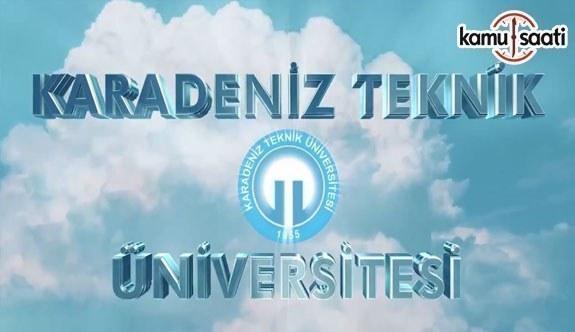 Karadeniz Teknik Üniversitesi İlaç ve Farmasötik Teknoloji Uygulama ve Araştırma Merkezi Yönetmeliği - 17 Ağustos 2018 Cuma