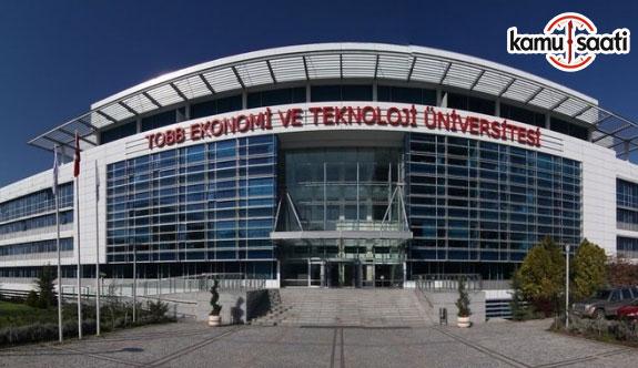 TOBB Ekonomi ve Teknoloji Üniversitesi Uyuşmazlık Çözümü Uygulama ve Araştırma Merkezi Yönetmeliği - 27 Ağustos 2018 Pazartesi