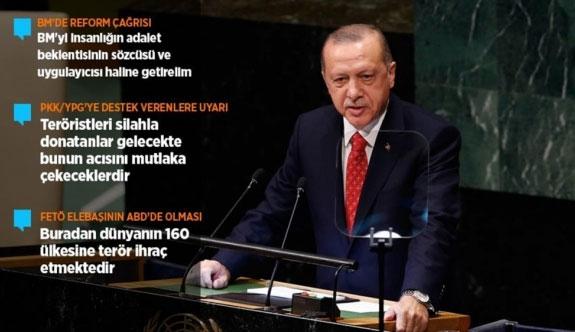 Cumhurbaşkanı Erdoğan, BM Genel Kuruluna hitap etti