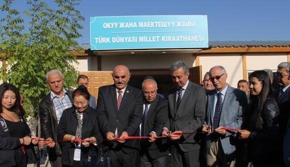Kırgızistan'da Millet Kıraathanesi açıldı