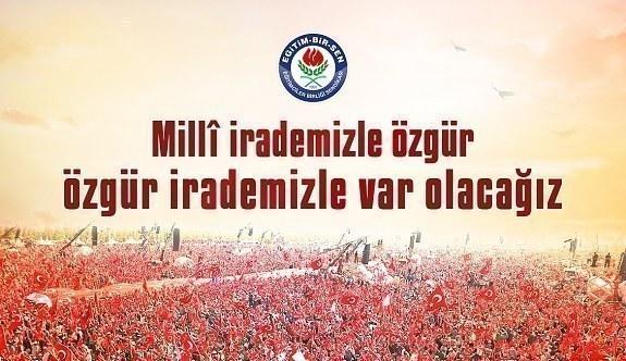 Eğitim Bir Sen'den 29 Ekim Cumhuriyet Bayramı mesajı