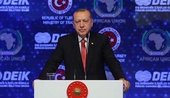 Erdoğan, Türkiye-Afrika Ekonomi ve İş Forumu'nda konuştu