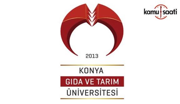 Konya Gıda ve Tarım Üniversitesi Lisansüstü Eğitim-Öğretim Yönetmeliğinde Değişiklik Yapıldı - 8 Ekim 2018 Pazartesi