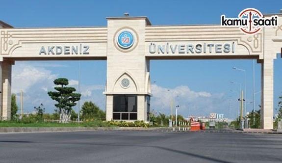 Akdeniz Üniversitesi Atatürk İlkeleri ve İnkılap Tarihi Araştırma-Uygulama Merkezi Yönetmeliğinde Değişiklik Yapıldı - 5 Kasım 2018 Pazartesi