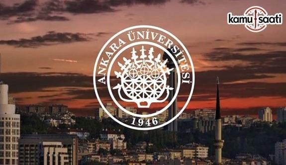 Ankara Üniversitesi'ne Ait 6 Yönetmelik Resmi Gazete'de yayımlandı- 9 Kasım 2018 Cuma
