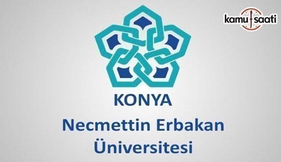 Necmettin Erbakan Üniversitesi'ne ait 2 yönetmelik Resmi Gazete'de yayımlandı - 8 Kasım 2018 Çarşamba