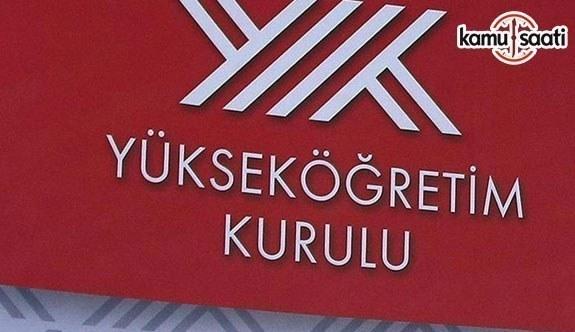 YÖK'ten TYS'ye ilişkin duyuru - 4 Aralık 2018