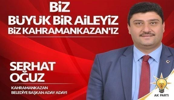 AK Parti Kahramankazan Belediye Başbakan Adayı Serhat Oğuz oldu