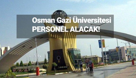 Eskişehir Osmangazi Üniversitesi Sözleşmeli personel Alımı 2019
