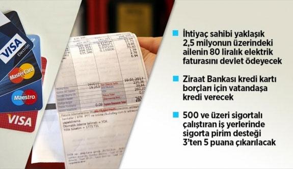 İhtiyaç sahibi ailelerin 80 liralık elektrik faturasını devlet karşılayacak