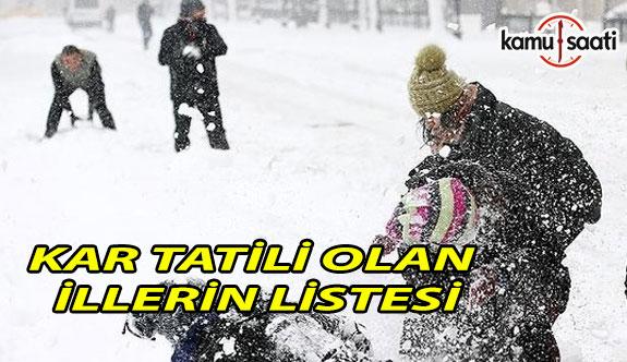 Yarın okullar tatil mi? 4 Ocak 2019 Cuma kar tatili olan illerin listesi
