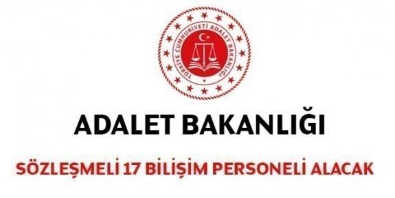 Adalet Bakanlığı Sözleşmeli 17 Bilişim Personeli Alacak