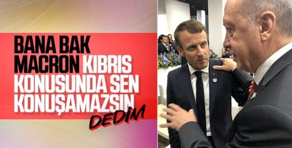 Başkan Erdoğan, Macron ile yaptığı görüşmeyi anlattı