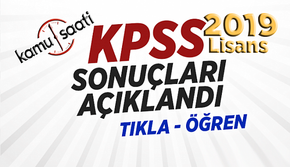 2019 KPSS Lisans Sınav Sonuçları Açıklandı 2019 Kpss lisans ve ÖABT Sınav Sonuç Ekranı için TIKLAYINIZ