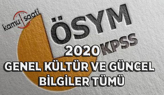2020 KPSS Güncel Bilgiler Çıkabilecek Sorular Genel Kültür 2020 KPSS