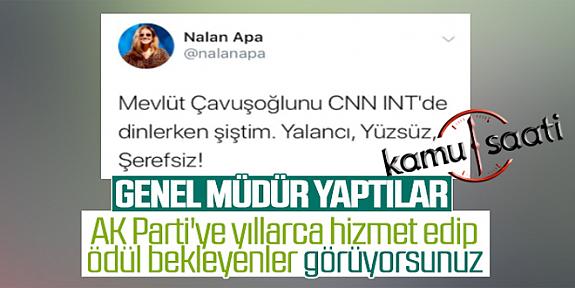 Ak Parti Tarafından Atanan Nalan Apa'nın Dikkat Çeken Paylaşımı!!!