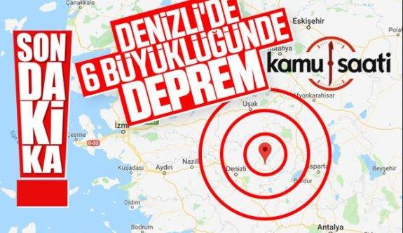 Denizli'de 6.0 Büyüklüğünde Deprem!!!
