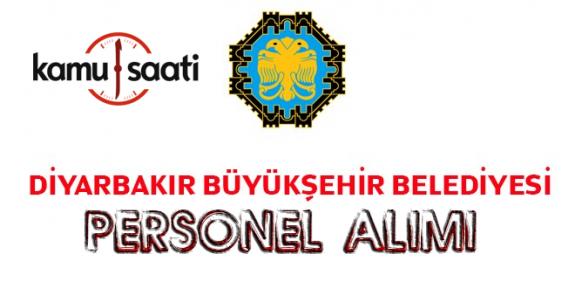 Diyarbakır Büyükşehir Belediyesi Personel Alımı 2019