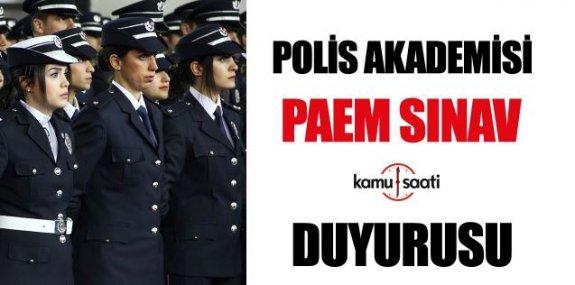 Emniyet Genel Müdürlüğü (EGM) Polis Akademisi Başkanlığı 2019 Yılı PAEM İlk Derece Amirlik Eğitimi Sınav Sonucu