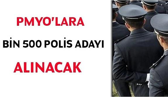 Kamuya 2 bin 500 polis memuru adayı alınacak