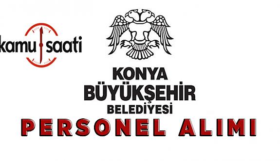 Konya Büyükşehir Belediyesi Personel Alımı 2020
