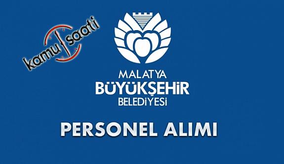 Malatya Büyükşehir Belediyesi Personel Alımı 2019