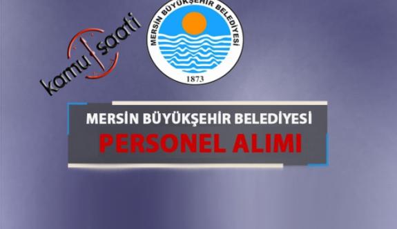 Mersin Büyükşehir Belediyesi Personel Alımı 2019