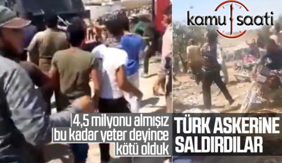 Suriyeliler Türk Askerine Saldırdı !!!