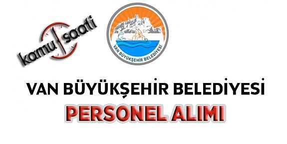 Van Büyükşehir Belediyesi Personel Alımı 2019