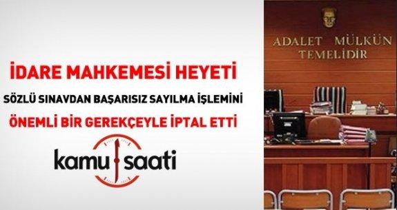 Zabıt Katipliği Sözlü Sınavı İptal Edildi !!!