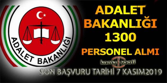 Adalet Bakanlığı 1300 Hakim ve Savcı Adayı Alımı